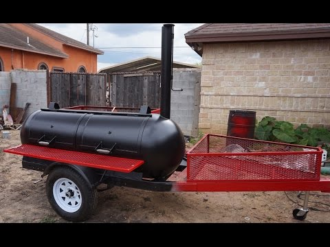 Propane tank smoker / grill trailer build Part 14