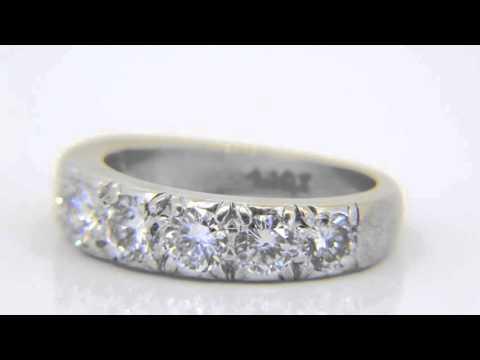 Buy 1.45ct diamond half-eternity ring www.jethromarles.co.uk