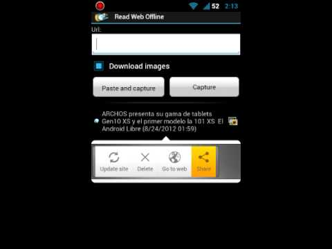 Read Web Offline for Android