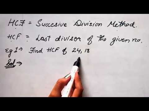 Find HCF by Successive Division Method