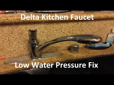 Tutorial: Delta Kitchen Faucet Low Water Pressure Fix