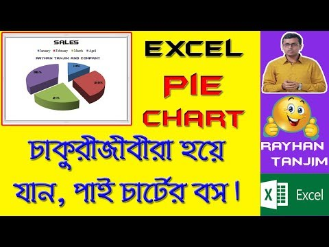 How to create attractive pie chart in Excel: MS Excel Tutorial Bangla