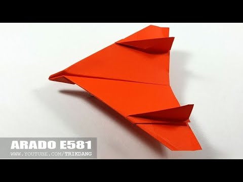 COOL PAPER JET FIGHTER - How to make a Paper Airplane That Flies | Arado E581