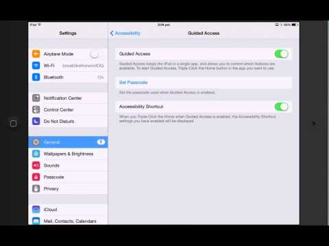 How to lock an iPad into one App only