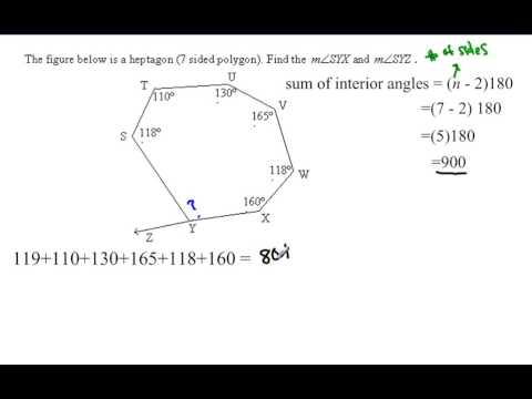 Polygon Angle sum Irregular polygon