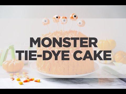 Monster Tie-Dye Cake
