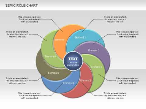 Semi Circle Chart for PowerPoint by PoweredTemplate.com