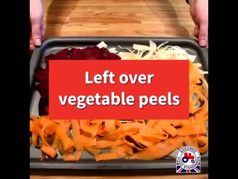 How to create Vegetable Chips from your peel