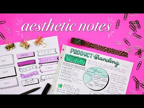 How to Take Tumblr Worthy Notes   Effective, Creative, and Aesthetic