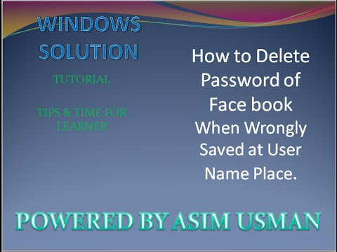 How to Delete Saved Password from User Id in Facebook Account