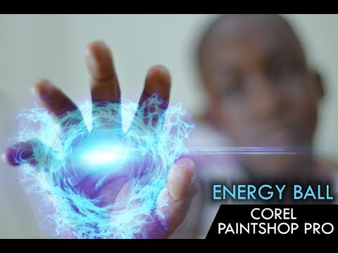 Creating an Energy Ball Effect in Corel Paint Shop Pro