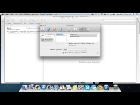 Mac Guide on Creating email signature in Mac OS X Mountain Lion