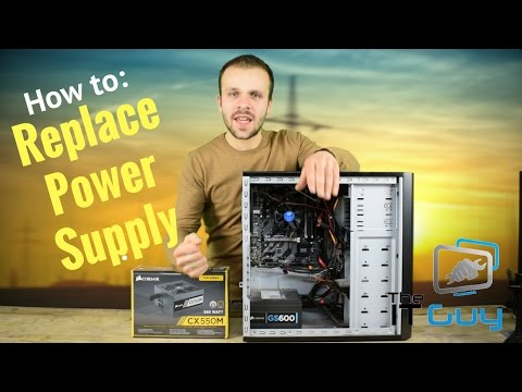 How to Replace a Power Supply in a Desktop PC - Advice and installation