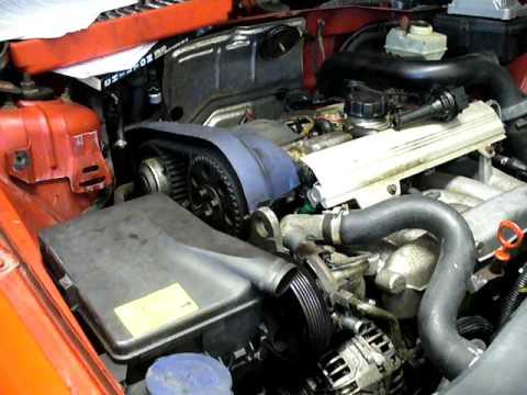 Volvo V70R hand cranking motor after timing belt change