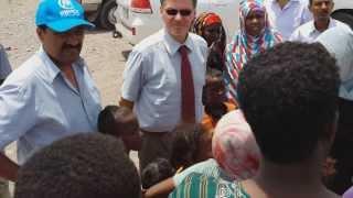 UNHCR Representative visit to Kharaz Camp in Yemen