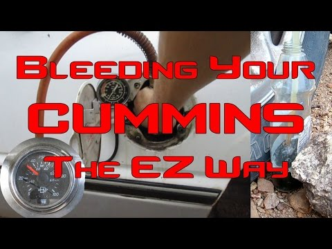 How to Bleed Your Cummins Fuel System