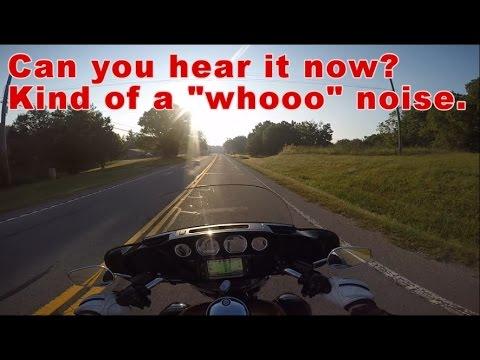Front wheel bearing noise, gray beard, Hot rod Victory, and drag bike sighting