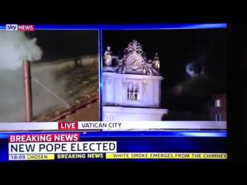 BREAKING NEWS WHITE SMOKE NEW POPE FRANCIS ELECTED 13TH MARCH 2013