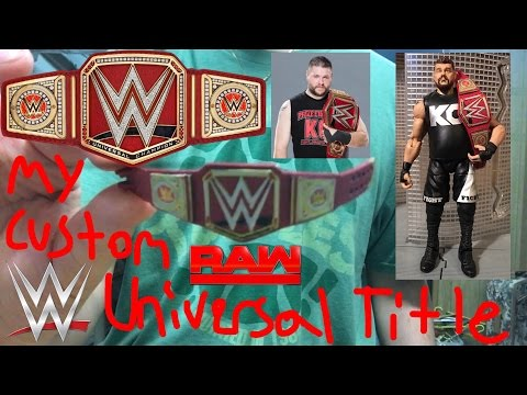 Custom Made:WWE Universal Championship Title Belt For Mattel Action Figures