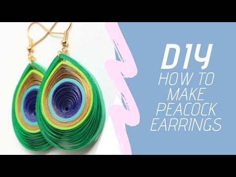 How To Make Peacock Earrings ||  By EmbezZzles