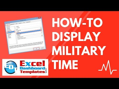 How-to Display Military Time in Excel