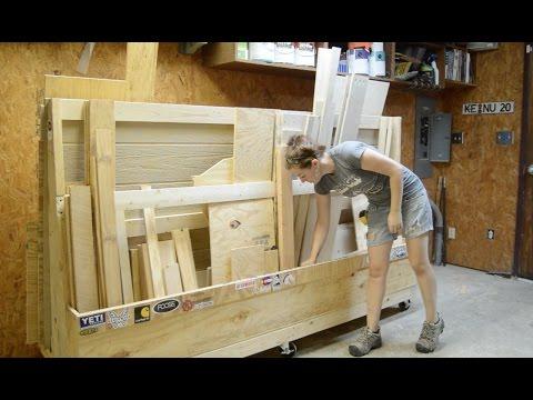 Rolling Lumber Rack