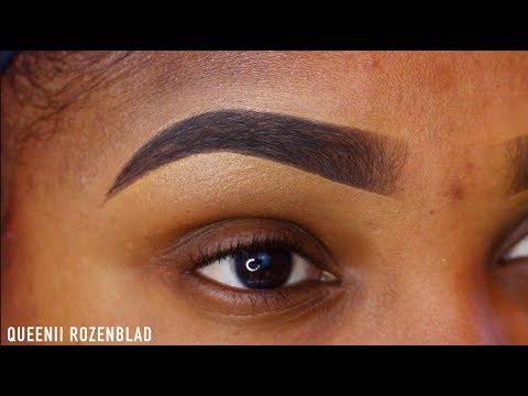 Eyebrow tutorial using Elf Brow Brow cream  just $4