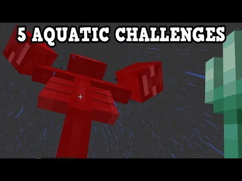 5 INSANE Aquatic Update Challenges For Minecraft PE / Xbox