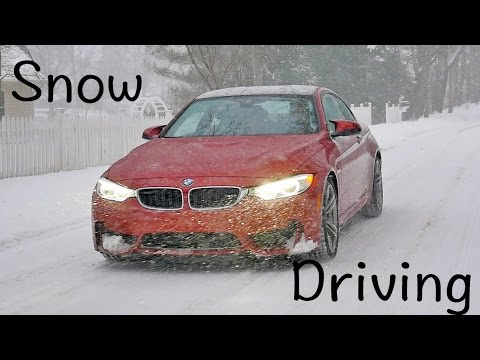 Snow driving tips for the BMW M3 M4 or pretty much any car