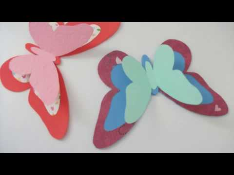 DIY craft how to make paper butterfly