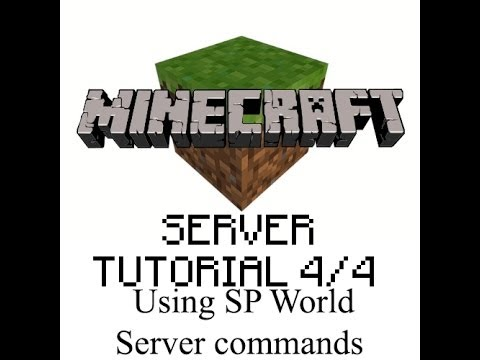 How to transfer Single Player World to your server + server commands - Minecraft SERVER tutorial 4/4