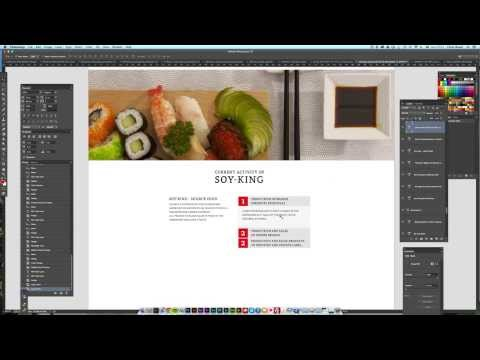 Chris Wood creating a speeded up parallax website design in photoshop