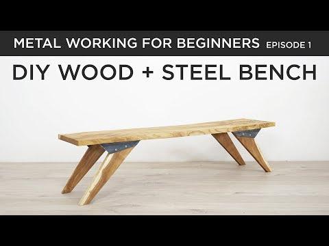 DIY Bench with Custom Steel Hardware | Metal Working for Beginners