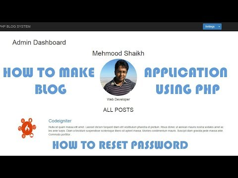 PHP BLOG Application - How to Reset Password Part-15