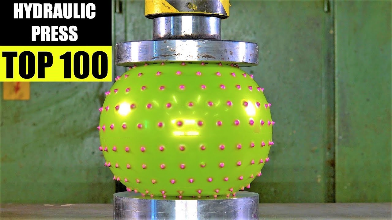 Top 100 Best Hydraulic Press Moments VOL 4 | Satisfying Crushing Compilation