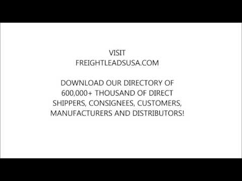 Freight Broker Training and Direct Shipper Loads Freight Leads