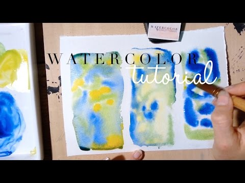How to use Watercolor: Mixing colours directly on the paper