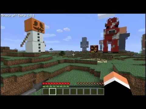 minecraft:magma cube statue,mooshroom statue,snow golem statue 1.9 new mobs
