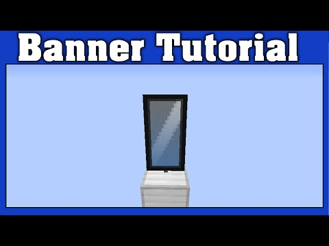 Minecraft Mirror Banner Tutorial