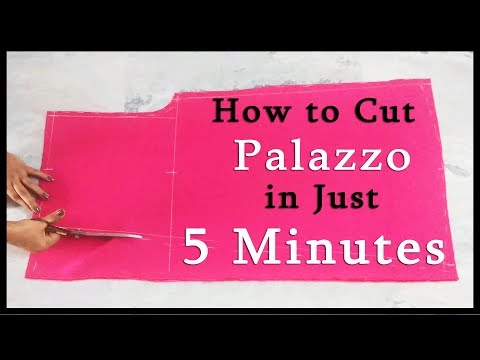 How to cut Palazzo in just 5 Minutes | Super Easy Way to make Palazzo