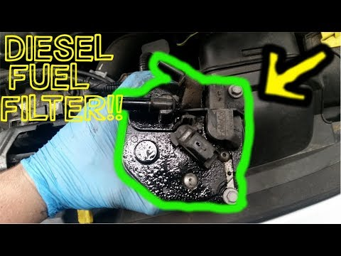 diesel fuel filter-how to replace  on a ford fiesta duratorq