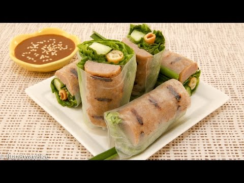 Grilled Pork Sausage Fresh Spring Rolls (Nem Nuong Cuon)