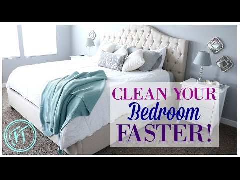 6 FAST & EASY STEPS for a CLEAN BEDROOM!!