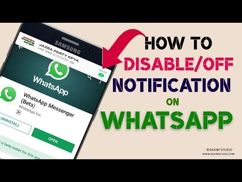 How to Disable/Off WhatsApp Group Message&Call's Notification Easily