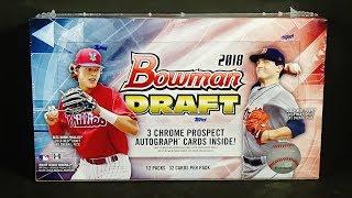 2018 Bowman Draft Baseball Jumbo Hobby Box Break! Nice!