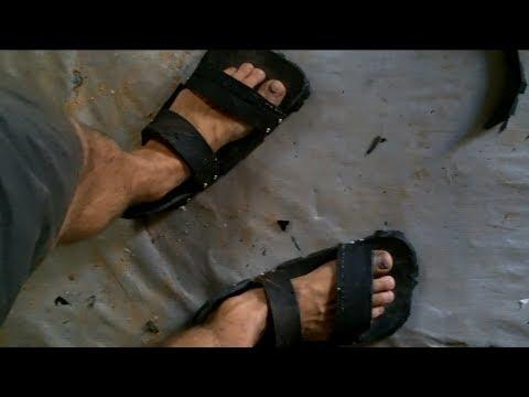 Tire to Sandals.  ...Battle Sandals!!
