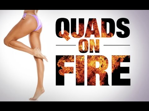 4 Minute Thigh Workout (QUADS ON FIRE!!)