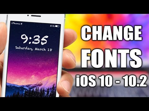 HOW TO Change Fonts On iOS 10 - 10.2 - BytaFont 3
