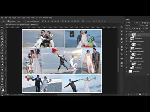 How to Use Photo Collages Automated PSD Templates