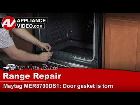 Maytag, Kenmore & Whilpool - Range / Oven - Door gasket ripped and torn replacement seal